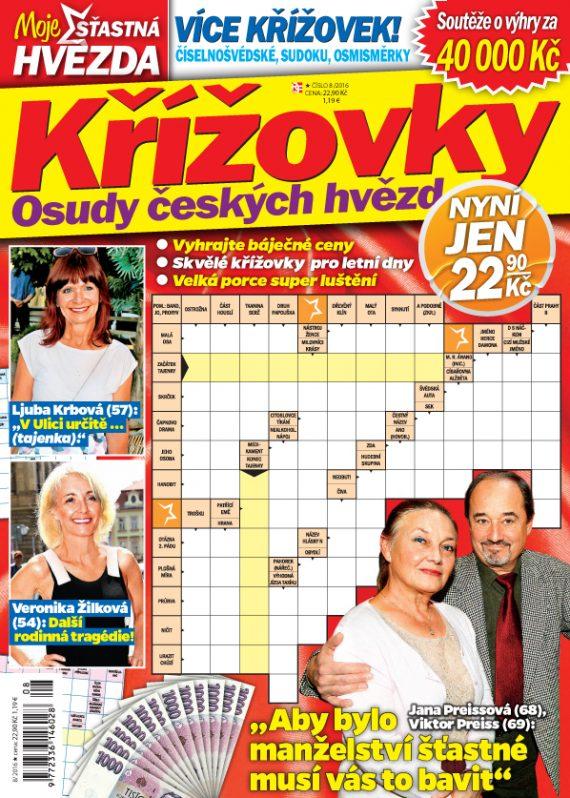 Křížovky Moje šťastná hvězda 8/2016