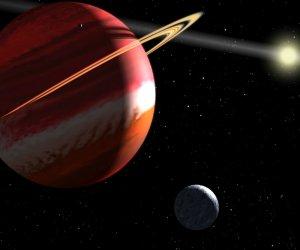 """""""Epsilon Eridani b"""" je jedna z nejbli¸¨ích objevených exoplanet nacházející se 10,4 ly daleko."""