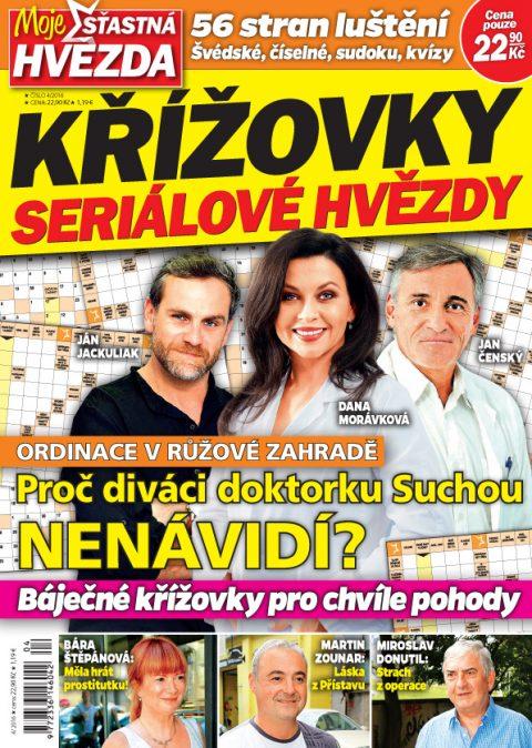 Aktuální číslo časopisu Křížovky Seriálové hvězdy – Moje šťastná hvězda
